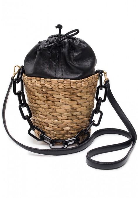Isis Bag Couro - Black